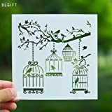 DIY Stencil for Scrapbooking Cardmaking Painting,Birdcage