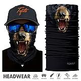 TEFITI Headwear - CocoCap Versatile Sports & Casual Headbands - Stretchable Face Shield Bandana Scarf Neck Gaiter (HR-040575) (Color: HR-040575, Tamaño: One Size)