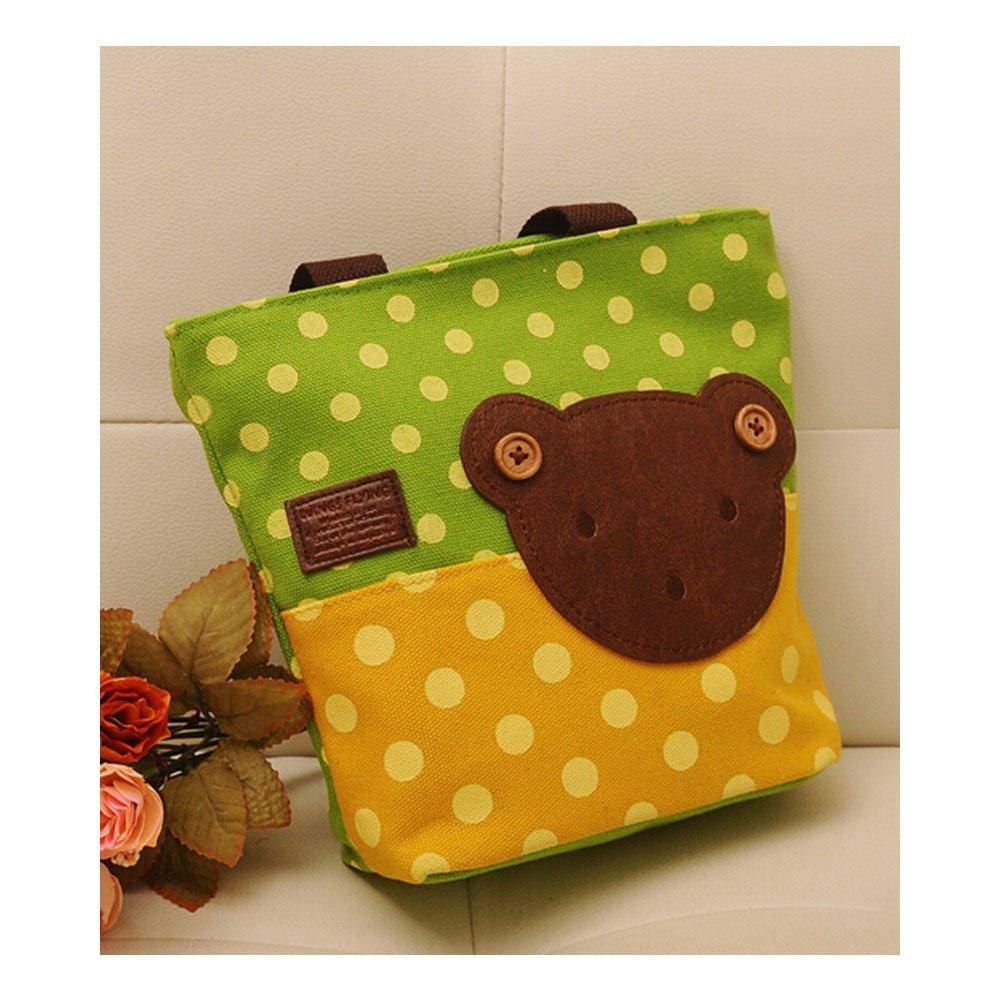 BestFyou® Korean Polka Dot Button Bear Canvas Bag shoulder bag shopping bag storage bag polka dot storage organizer