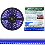 HitLights Luma5 Series (SMD 3528) Weatherproof Blue LED Light Strip, 300 LEDs, 5 Meter (16.4 ft) spool, 12VDC Input (Adapter not included)