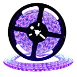 DeepDream UV Black Light Led Strip 32.8Ft/10M 48W Flexible Waterproof IP65 with 12V 4A Power Supply (Color: 32.8ft UV, Tamaño: 32.8ft UV Black Light)