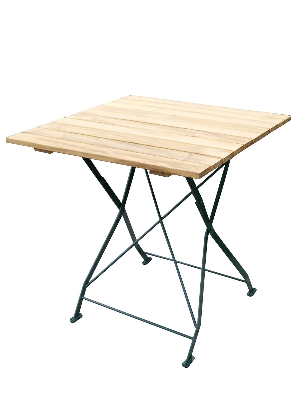 GARDENho.me Klapptisch BAYREUTH Gestell Stahl Grün, Belattung Robinie, Gartentisch ca. 70x70cm jetzt kaufen