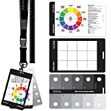 Grey Scale Value Finder, Color Wheel, Artists View Catcher Finder Viewfinder on Lanyard with Measuring Tape Tools for Artists Drawing