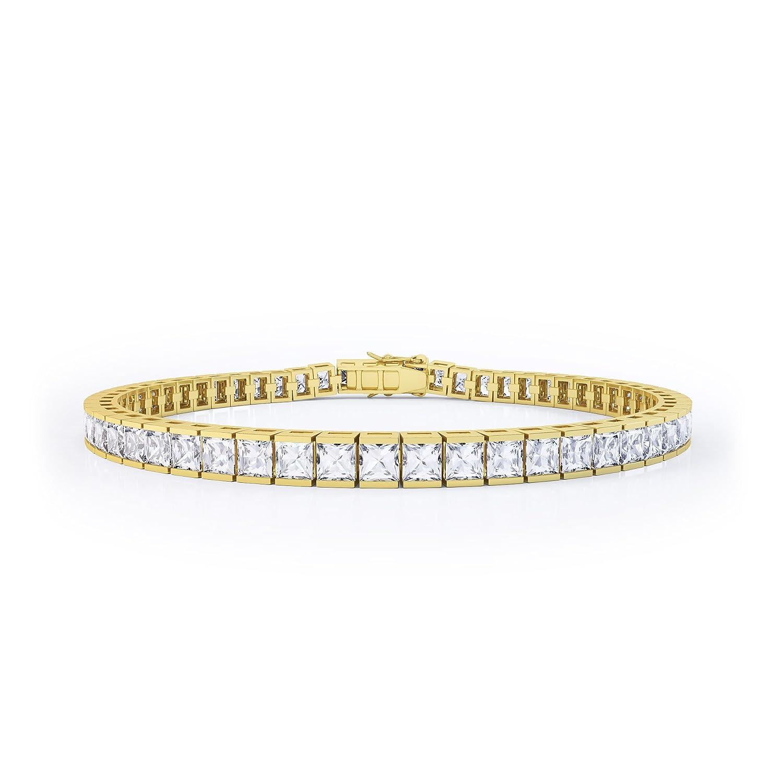 Prizess-Schliff Diamant Damen-Armband – Silber – Gelbgold jetzt bestellen
