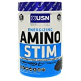 USN Energizing Amino Stim, Blue Raspberry (Color: Blue, Tamaño: 30 Servings)