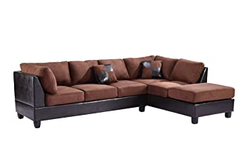 Glory Furniture G29O-SC Sectional Sofa, Mocha, 2 boxes