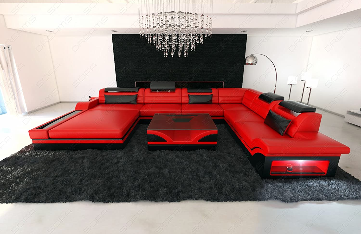 Design Sectional Sofa MEZZO XXL with LED Lights