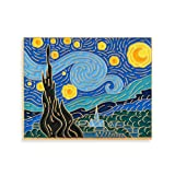 Pinsanity Van Gogh Starry Night Painting Enamel Lapel Pin,Multi,1.75 inch (Color: Multi, Tamaño: 1.75 inch)