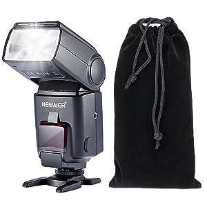 NEEWER FLASH SPEEDLITE E-TTL NW680/TT680 HSS para Canon 5D MARK 2 6D 7D 70D 60D 50DT3I T2I y otras cámaras DSLR de Canon