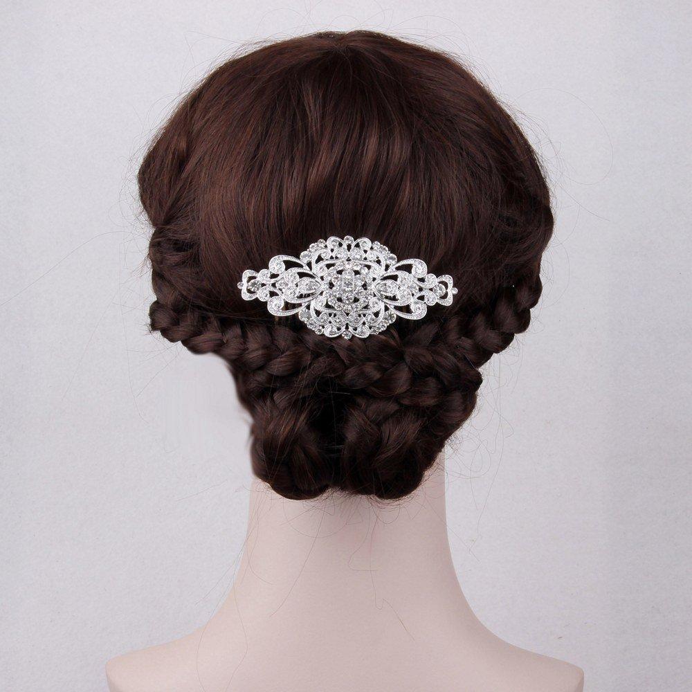 Fairy Moda Rhinestone Bridal Hair Comb Silver Wedding Bridesmaid Gift Vintage Hair Piece 5
