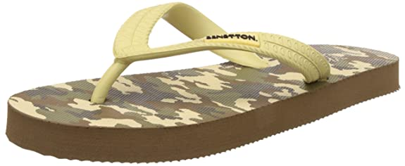 United Colors of Benetton Boy's Flip-Flops and House Slippers at amazon