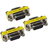 VGA Coupler Female to Female HD 15 Pin SVGA Connector Adapter Pack of 3