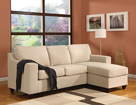 ACME Reversible Chaise Sectional, Beige