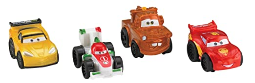 Fisher-Price Little People Cars 2 Wheelies, 4-Pack