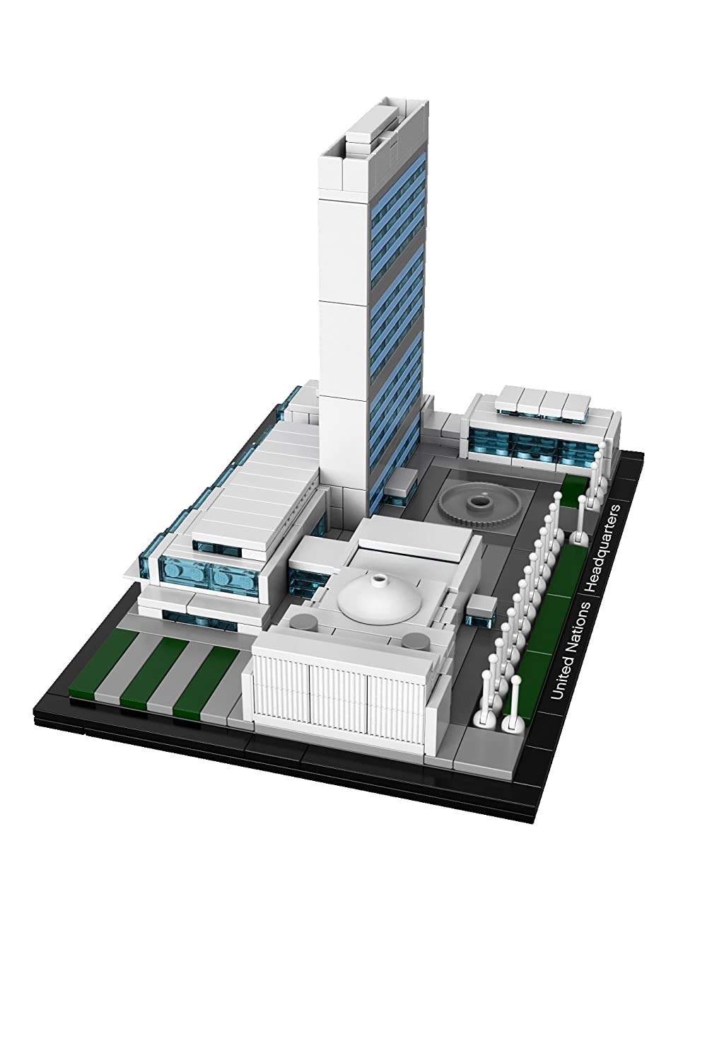 Lego architecture united nations headquarters new free shipping ebay for Lego architecture new york