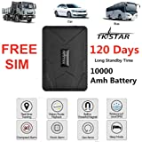 TKSTAR GPS Tracker, (Free SIM) Real Time Vehicles Tracking Device with 10000mAh Long Time Standy, Anti Theft GPS Locator with Magnetic for Car Truck Management TK915