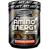 MuscleTech Essential Series Platinum Amino Plus Energy BCAA Powder, Extreme Orange, 10.40 Ounce, 30 Serving (Color: Amino Plus Energy, Tamaño: 30 Servings)