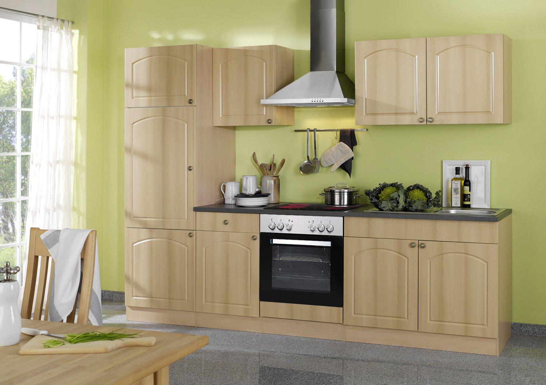 Held Möbel 690.6040 Küchenzeile 270 in Buche / Anthrazit mit E-Geräten