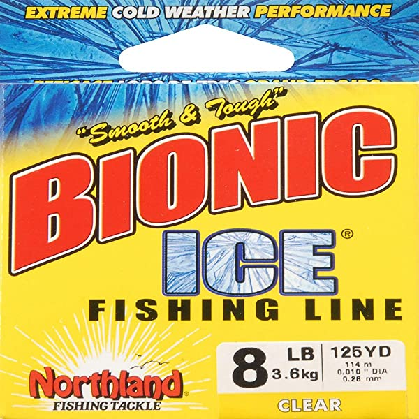 125 yds. Northland Bionic Ice Ice Fishing Line Clear