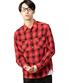 Red Check Western Shirt 1211-149-6740: 2