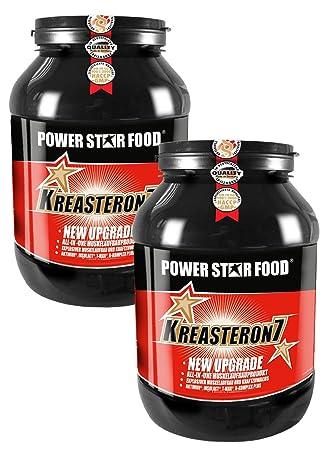 KREASTERON 7, 2 Dosen à 1610 g zum Vorteilspreis, ultimatives ALL-IN-ONE-Aufbauprodukt mit 7 Nährstoff-Kombinationen, Muskelaufbau und Kraftsteigerung. Geschmack: Mischen möglich unter Vermerk