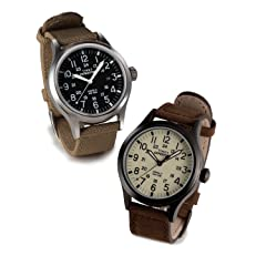 Expedition Scout Metal Horween Chromexcel: Black / Silver, Ivory / Black