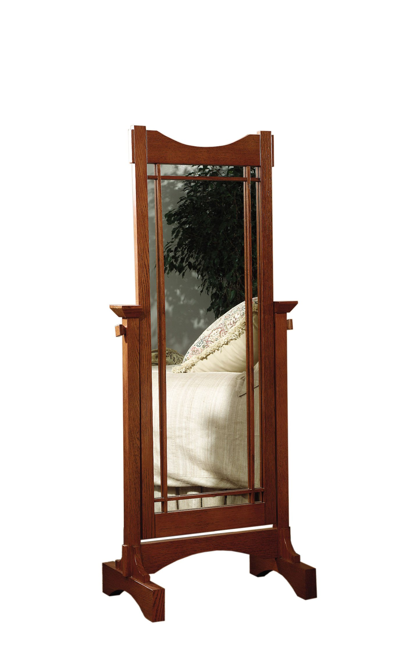 Oak Cheval Powell Mirror