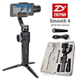 Zhiyun Smooth 4 3-Axis Handheld Gimbal Stabilizer, Upgraded Phone Camera Video Tripod w/Focus Pull&Zoom Vertigo Shot for iPhone Xs Max X/8 Plus/7/SE Samsung Galaxy S9+/S8/S7/S6 etc Smartphones(Black) (Color: Smooth 4-Black)