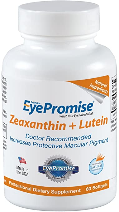 EyePromise Zeaxanthin + Lutein Eye Vitamin - Protect & Enhance Macular Health, Address Key Macular Degeneration Risk Factor