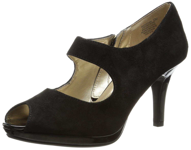 Bandolino Women's Startview Suede Dress Pump,Black,9 M US ...