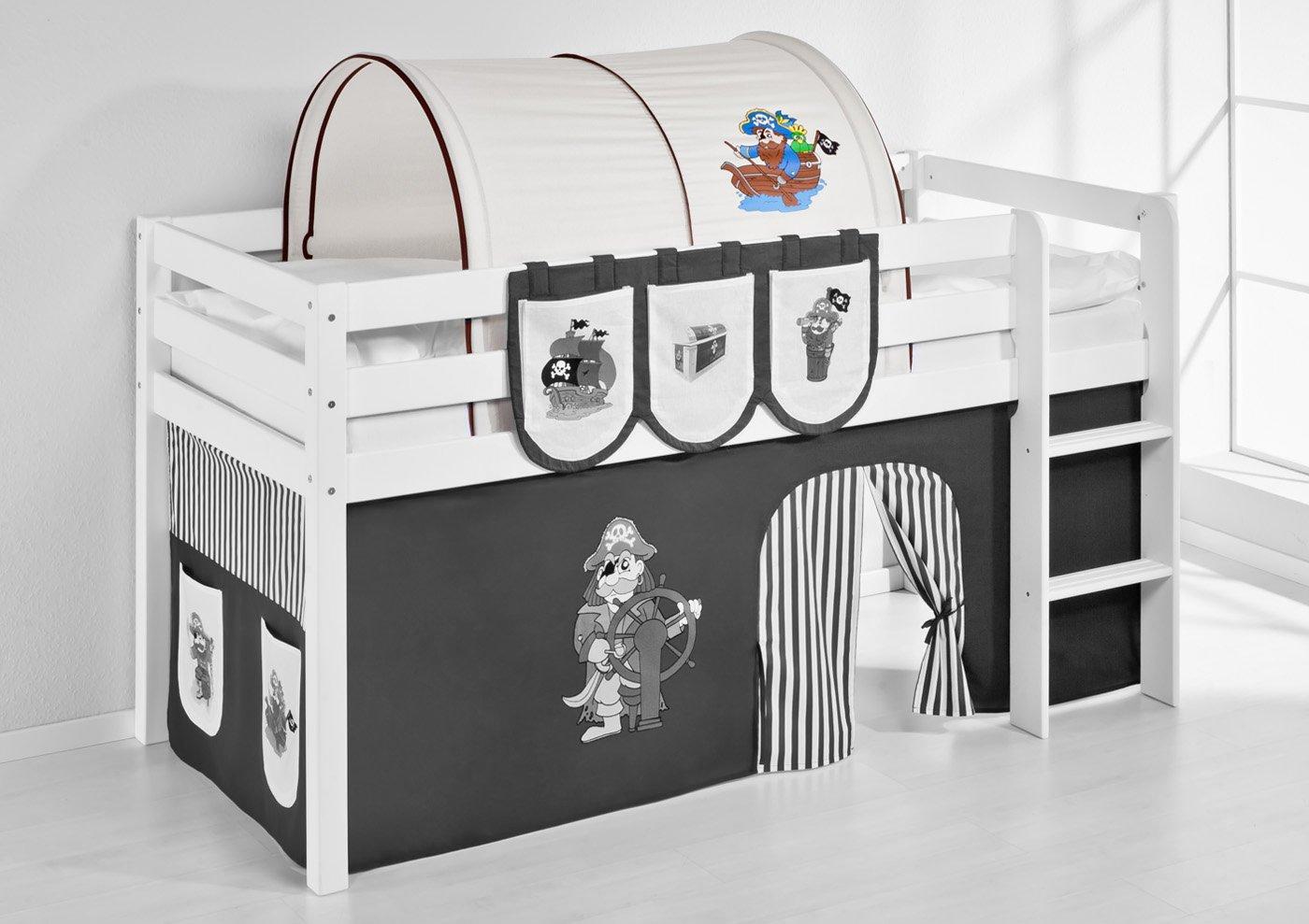 Tunnel Pirat Schwarz Lilokids für Hochbett Spielbett und Etagenbett günstig bestellen