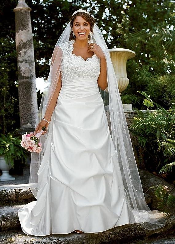 SAMPLE Cap Sleeved Satin Side-Draped A-Line Wedding Dress Style AI13011601