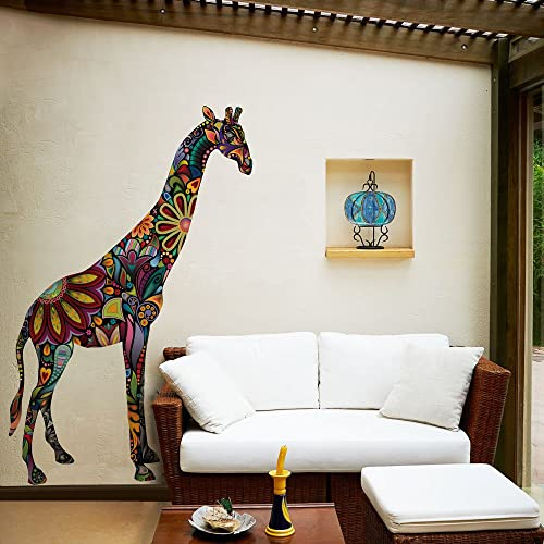 Giant Giraffe Wall Sticker Decal - Peel & Stick and Removable