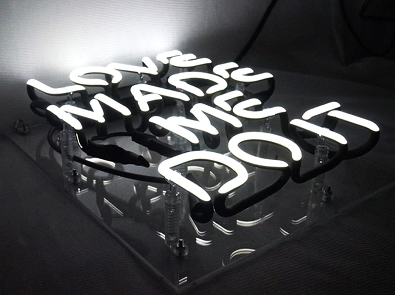 Love Made Me Doit Cool Glass Neon sign Led Lamp Night Light Display Gift 8.7