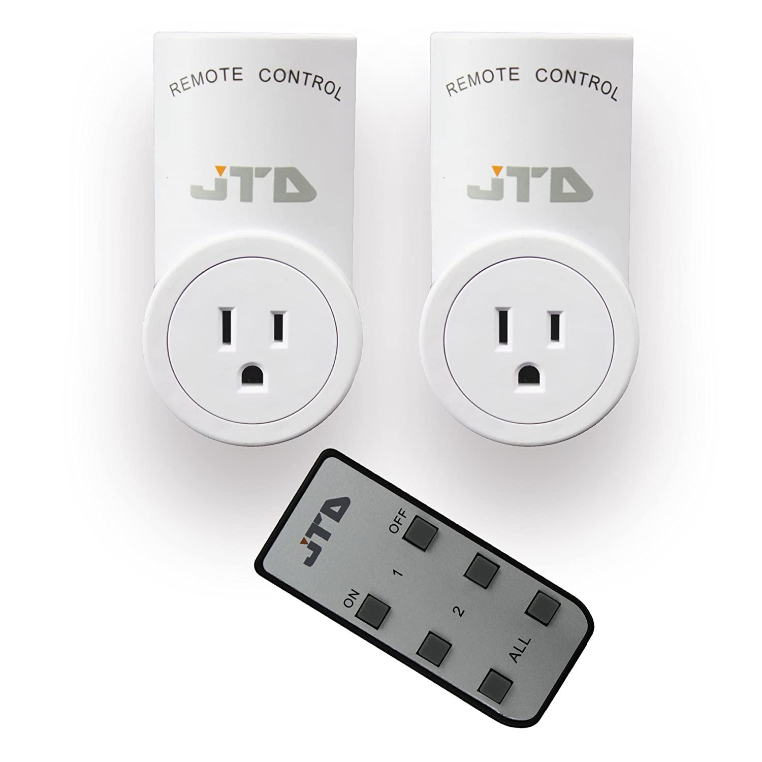 JTD ® 2 Pack Wireless Remote Control Electrical Outlet Plug with ...