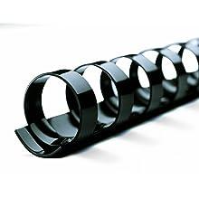 "GBC CombBind Spines, 5/8"" Inch, 130-Sheet Capacity, Black, 25 per Box (4090046)"
