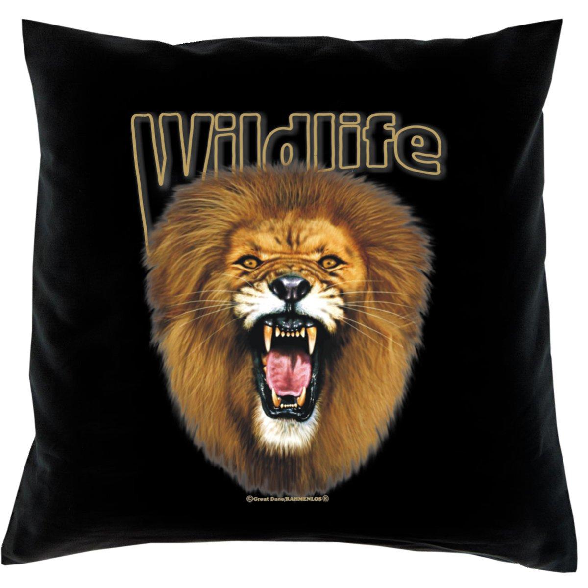 Kissen mit Innenkissen – Wildlife – Löwe – mit 40 x 40 cm – in schwarz : ) günstig online kaufen
