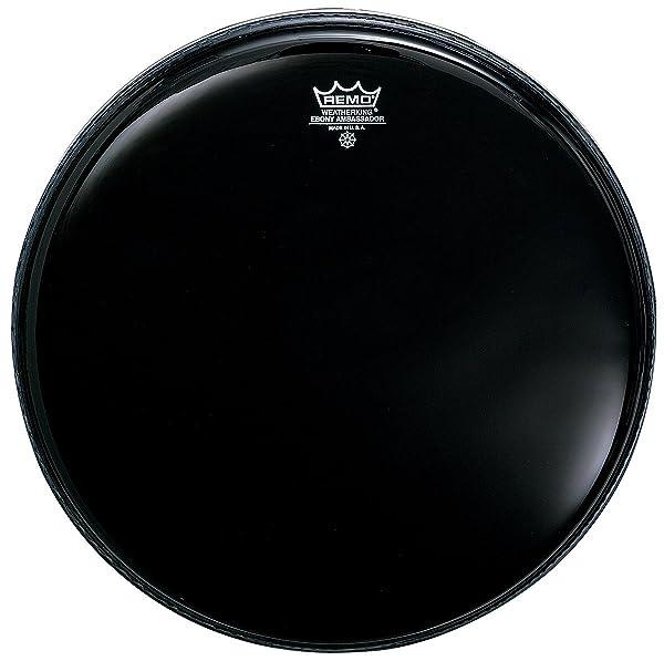 Remo Black Suede Ambassador Drum Head 14in