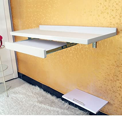 ZXLDP Computadora Mesa De Aprendizaje Mesa De Pintura Tabla De Inicio Casa De Escritorio De Pared Escritorio Color Tamaño Opcional ( Color : Blanco , Tamaño : 100*40cm )