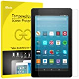 JETech Screen Protector for Amazon Fire HD 8 (2017 and 2016 Model), Tempered Glass Film (Color: Clear)