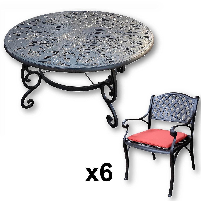 Lazy Susan Joyce 135 Cm Runder Gartentisch Mit 6 Stuhlen