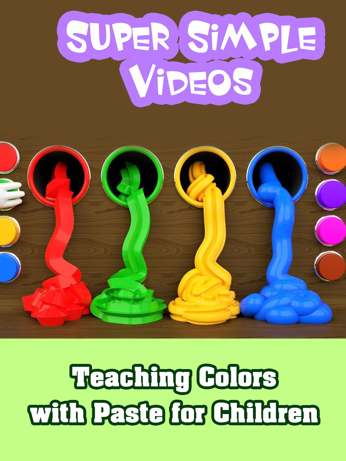 Teaching Colors with Paste for Children