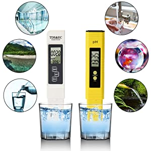 TopOne Digital TDS Meter + PH Meter with Auto Calibration Button, Water Quality Test Kit 4 in 1 (TDS-1) (Style-1)