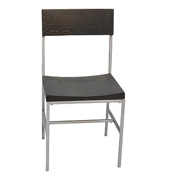 Carolina Chair & Table Durham Brennan Dining Chair, Black/Sliver