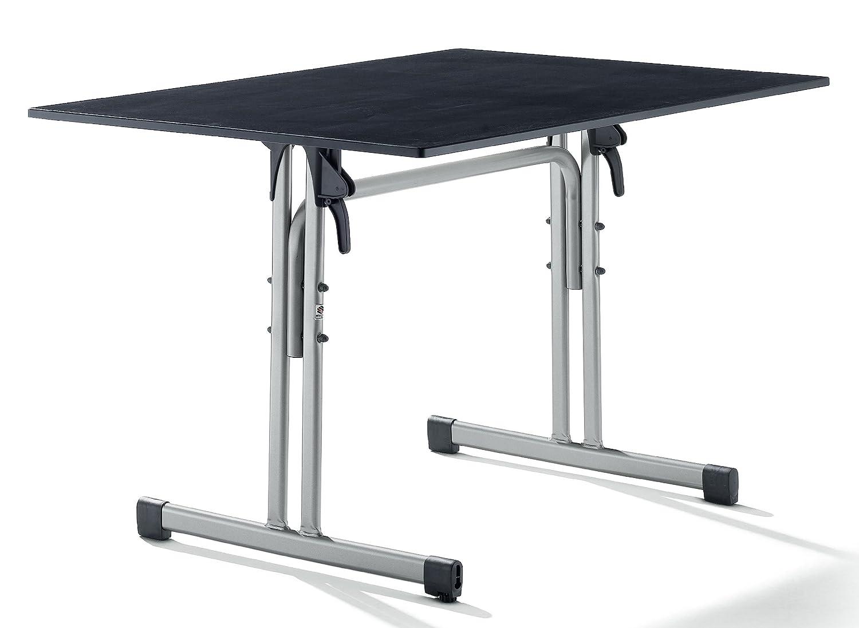 Sieger 1360-50 Gastro-Tisch mit Puroplan-Platte 120 x 80  cm, Stahlrohrgestell graphit, Tischplatte Schieferdekor anthrazit online kaufen