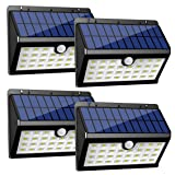 InnoGear Solar Lights Outdoor, 30 LED Motion Sensor Security Night Light with Auto on and Off for Front Door Back Yard Driveway Garden Patio Garage, Pack of 4 (Color: White, Tamaño: Pack of 4)