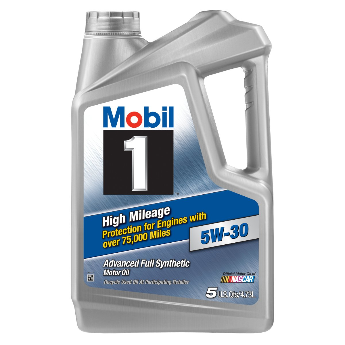 Mobil 1 120847 high mileage 5w 30 motor oil 5 quart for Quart of motor oil