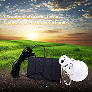 LightMe Portable 130LM Solar Powered Led Bulb Light Outdoor Solar Energy Lamp Lighting for Hiking Fishing Camping Tent