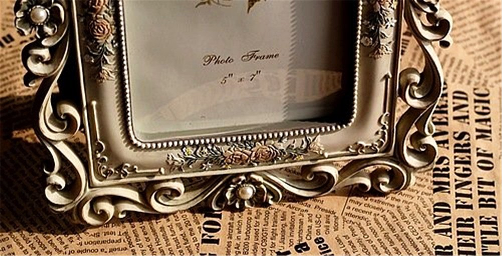 Gift Garden Vintage Picture Frame 5 by 7 -Inch Hollow up for Photo 5x7 4