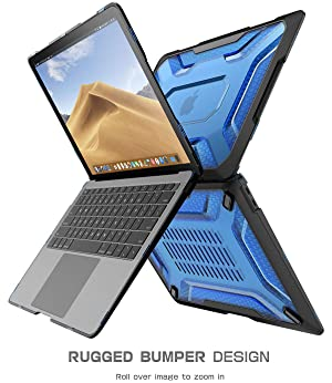 New MacBook Air 13 Inch Case 2018 Release, SUPCASE Slim Rubberized TPU Bumper [Unicorn Beetle Series] Cover for 2018 MacBook Air 13 Inch A1932 with Touch ID and Retina Display (Blue/Frost) (Color: Blue/Frost, Tamaño: 13 Inches)